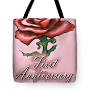 First Anniversary Tote Bag