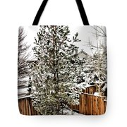 First Blanket Of Snow Tote Bag