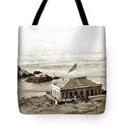 First Cliff House  View Of Ropes From The Cliff House To Seal Rock Circa 1865 Tote Bag