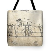 First Exercise Machine Patent Tote Bag