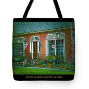 First Impressions Salon In Woodstock Vermont Tote Bag