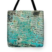 First Infantry Division Memorial Plaque Tote Bag