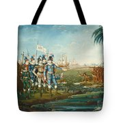 First Landing Of Christopher Columbus Tote Bag