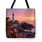 First Light At Portland Head Tote Bag