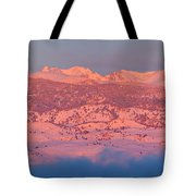 First Light Colorado Rocky Mountains Panorama Tote Bag
