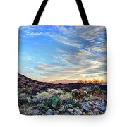 First Light In Valley Of Fire Tote Bag