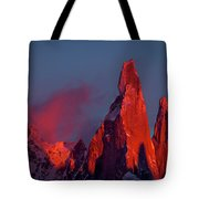First Light On Cerro Torre - Patagonia Tote Bag