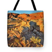 First Light On Valley Of Fire State Park Tote Bag