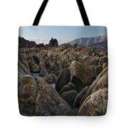First Light Over Alabama Hills California Tote Bag