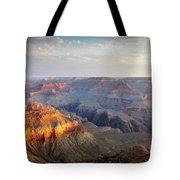 First Light Over Grand Canyon, Arizona, Usa Tote Bag