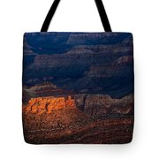 First Light Over Yavapai Point  Grand Canyon Tote Bag