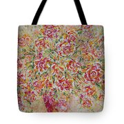 First Love Flowers Tote Bag