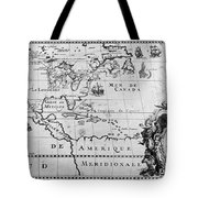 First Map Of Louisiana Tote Bag