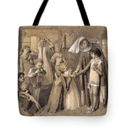 First Meeting With Beatrice Tote Bag