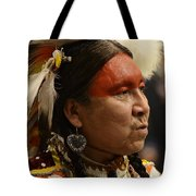 Pow Wow First Nations Man Portrait 1 Tote Bag