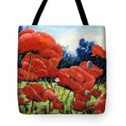 First Of Poppies Tote Bag