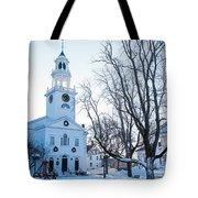 First Parish Church Manchester Ma North Winter Snow Tote Bag