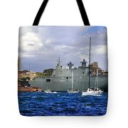 First Peak At Australia's Newest Warship Tote Bag