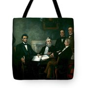 First Reading Of The Emancipation Proclamation Of President Lincoln Tote Bag
