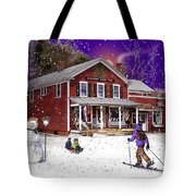 First Snow At The South Woodstock Country Store Tote Bag