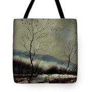 First Snow In Harroy Tote Bag