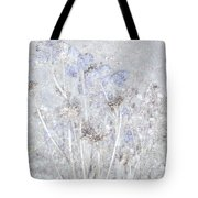 First Snow In The Field Tote Bag