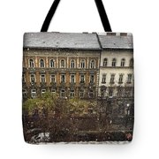 First Snow Of The Year Tote Bag