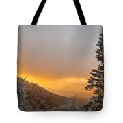 First Snow On The Blue Ridge Parkway. Tote Bag