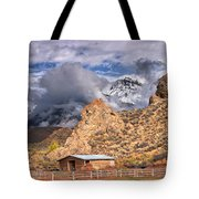 First Snow On The Hills Tote Bag