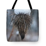 First Snow On The Thistle Tote Bag