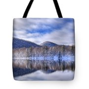 First Snow On West Lake Tote Bag