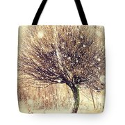 First Snow. Snow Flakes Tote Bag