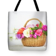 First Spring Garden Roses Tote Bag