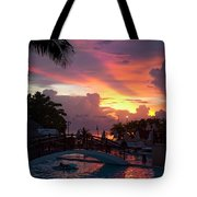 First Sunset In Negril Tote Bag