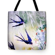 First Swallows Of Summer  Tote Bag