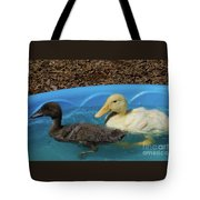 First Swimming Lesson Tote Bag