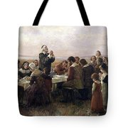 First Thanksgiving Vintage Painting Tote Bag