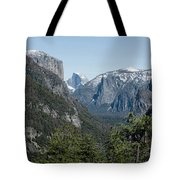 First View Of Yosemite Valley Tote Bag