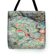 Fish Art Trout Art Brook Trout Brookie Artwork Nature Underwater Wildlife Creek Art River Art Lake Tote Bag