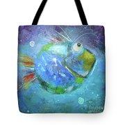 Fish Blue Tote Bag
