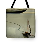 Fish Boat And Anchor On Low Tide  Tote Bag