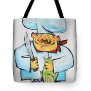 Fish Chef Tote Bag