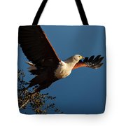 Fish Eagle Taking Flight Tote Bag