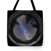 Fish-eye Lens Panorama Of Milky Way Tote Bag