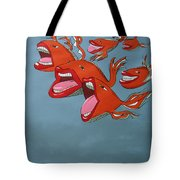 Fish Fight Tote Bag
