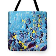 Fish Flurry Tote Bag