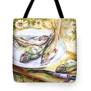 Fish For Dinner. Tote Bag