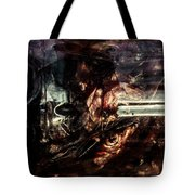 Fish Heads 01 Tote Bag by Grebo Gray