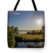 Fish Hook Lake Morning Tote Bag