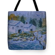 Fish House And Dock 2  Tote Bag